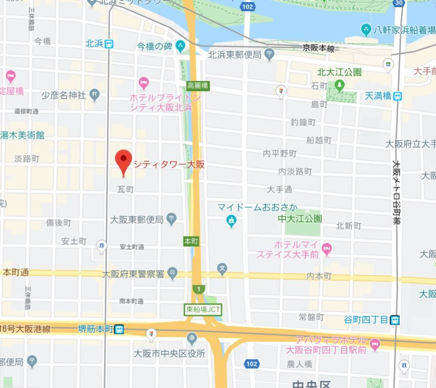 シティタワー大阪地図