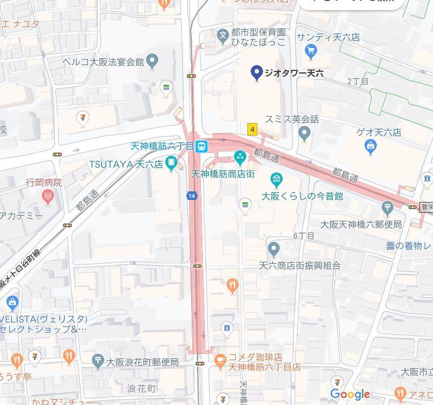 ジオタワー天六地図