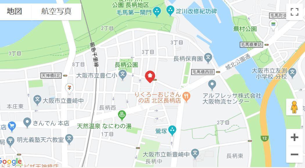 セレッソコート梅田地図