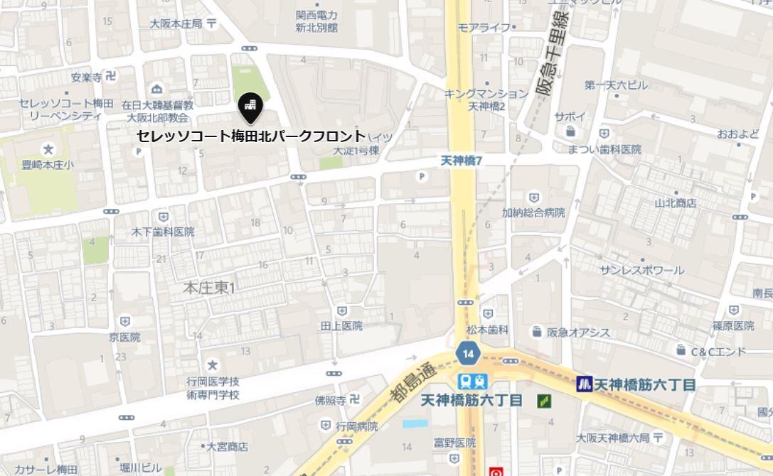 セレッソコート梅田北パークフロント地図