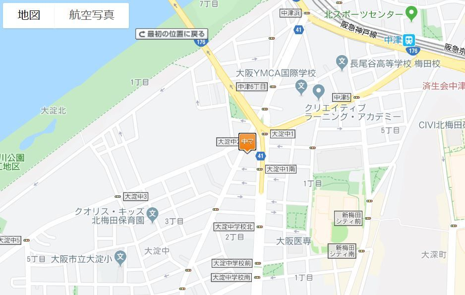セレッソコート北梅田地図