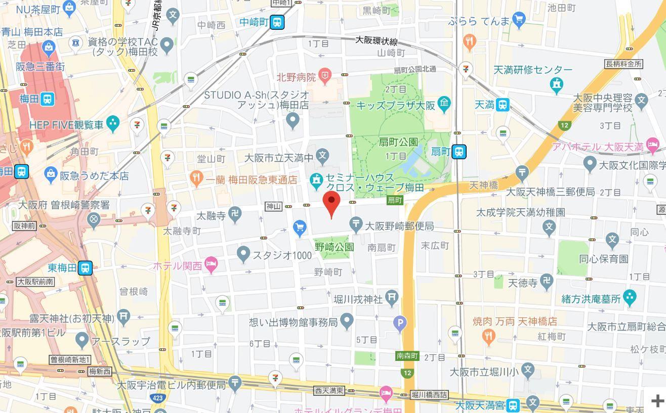 センチュリーパークユニ東梅田地図