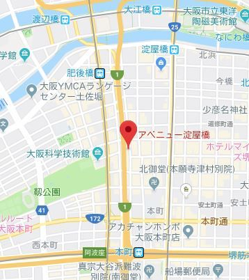 アベニュー淀屋橋地図