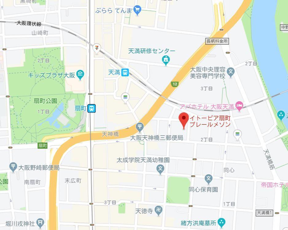 イトーピア扇町プレールメゾン地図