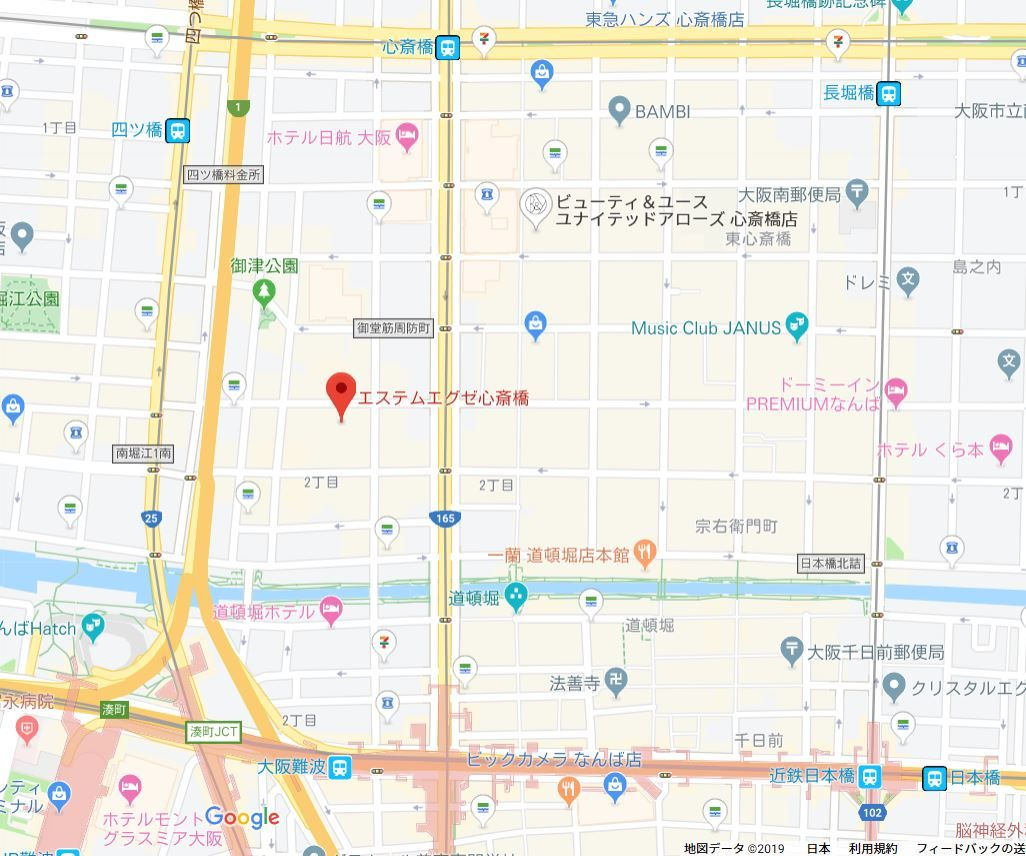 エステムエグゼ心斎橋地図