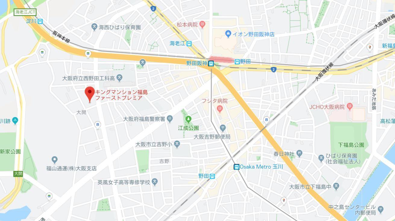 キングマンション福島ファーストプレミア地図