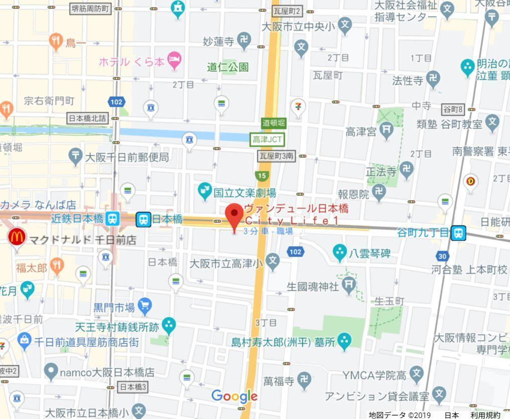 ヴァンデュール日本橋シティライフ地図