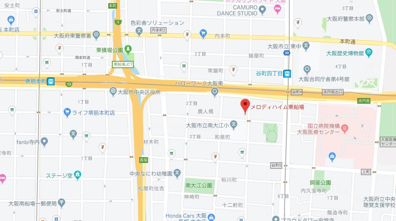 メロディハイム東船場地図