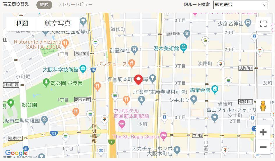 ユーロハイツ本町地図