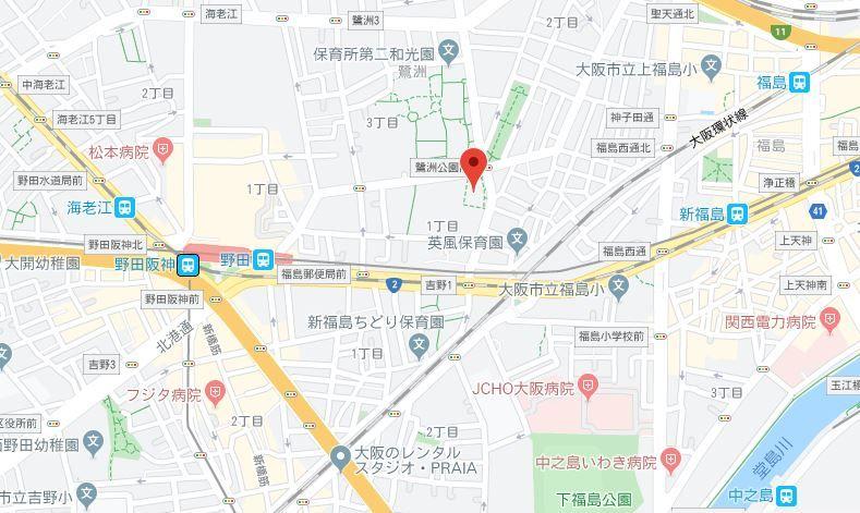 ユニハイム福島鷺洲公園 地図