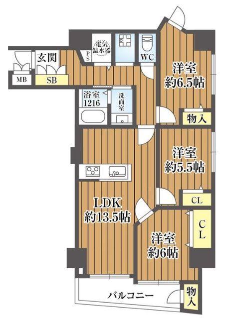 ユニ高麗橋2480 間取り図面