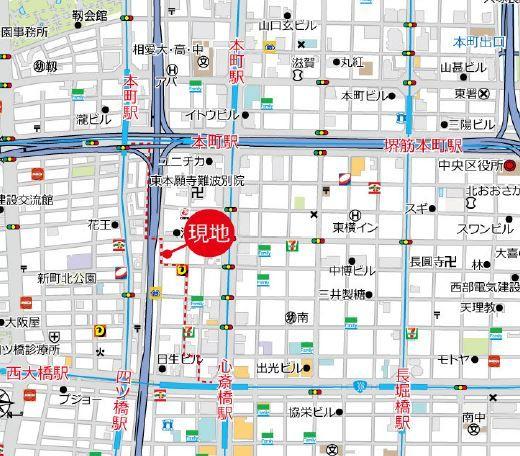 ノバカネイチ本町御堂地図