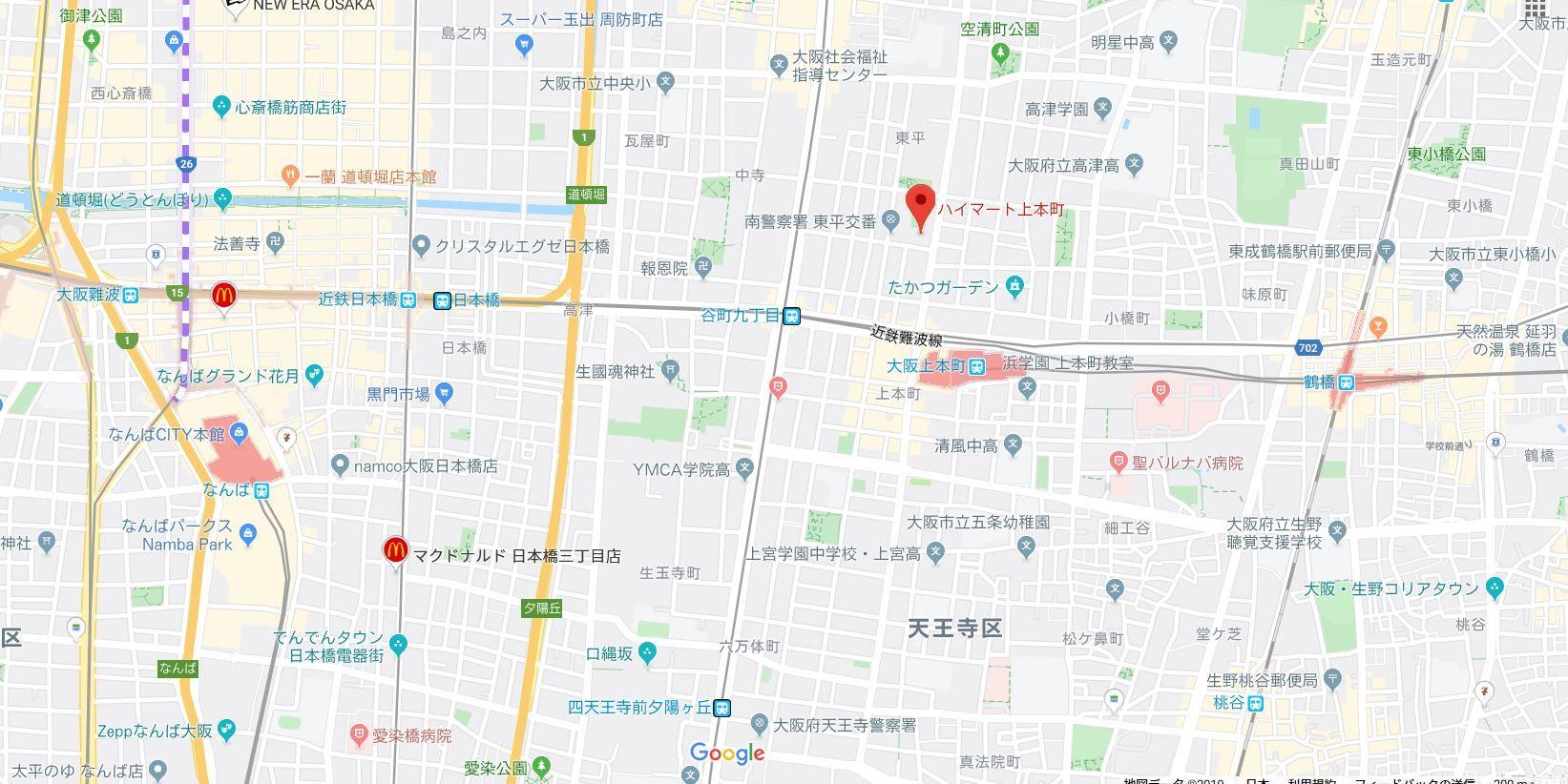 ハイマート上本町地図