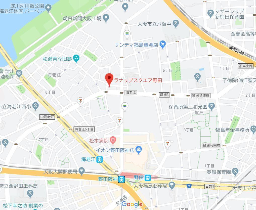 ラナップスクエア野田 地図