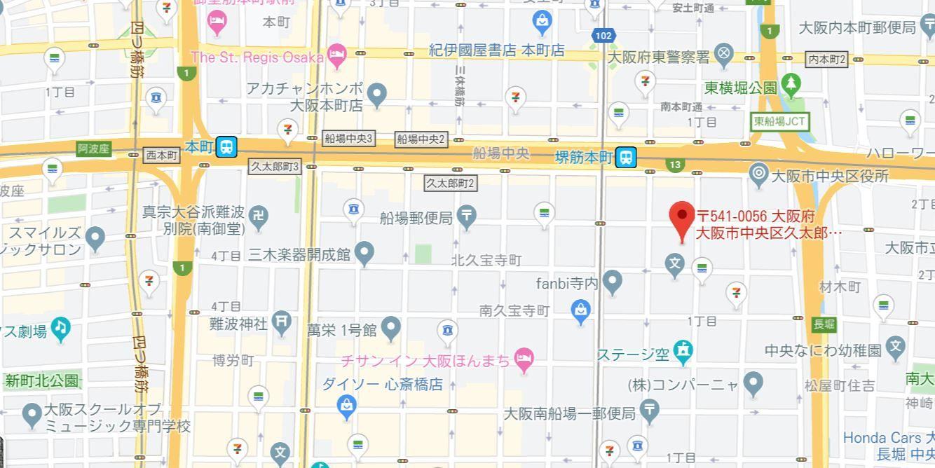 プレサンスレジェンド堺筋本町タワー5500地図