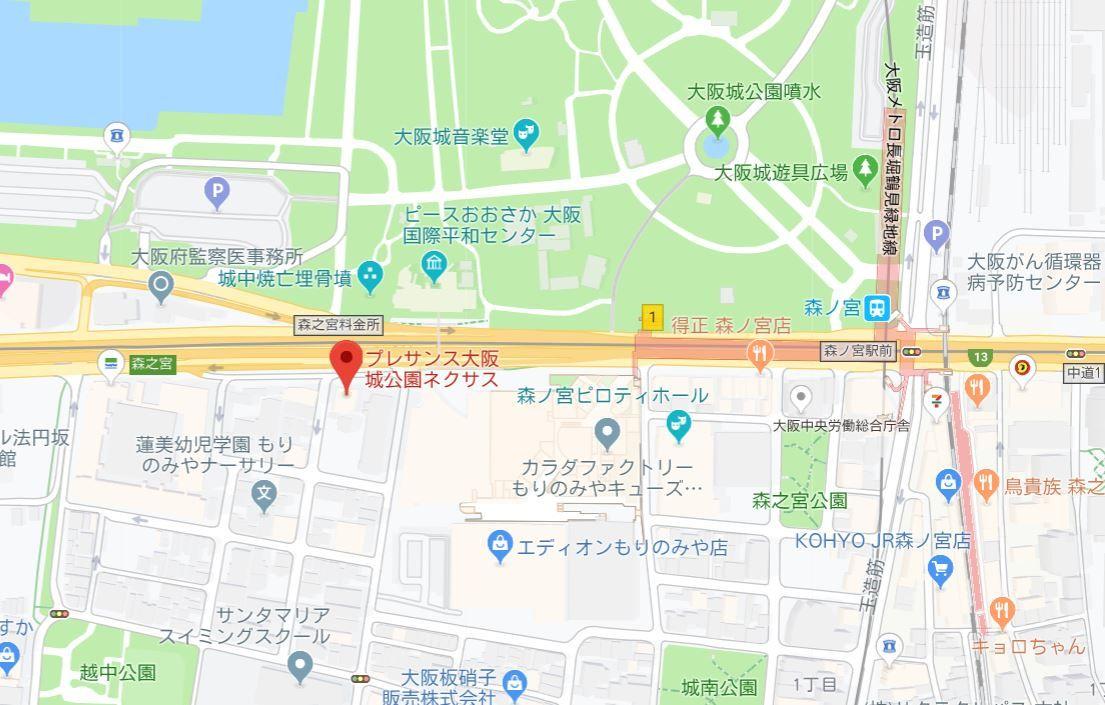 プレサンス大阪城公園ネクサス地図