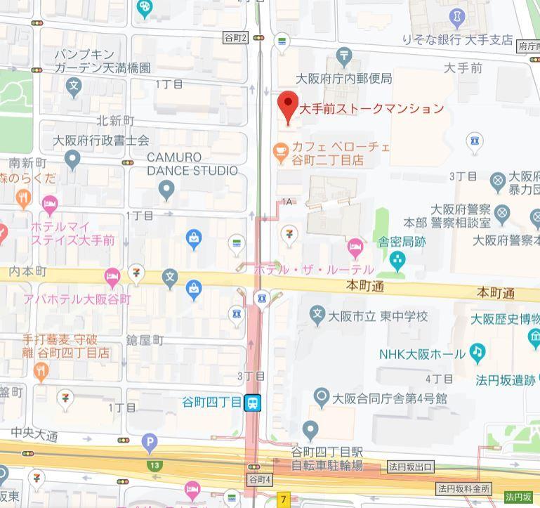 大手前ストークマンション地図