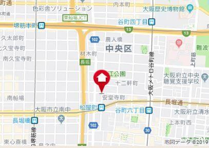 朝日プラザ長堀パサージュ地図