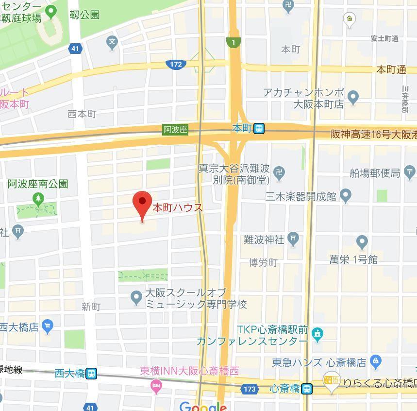 本町ハウス地図
