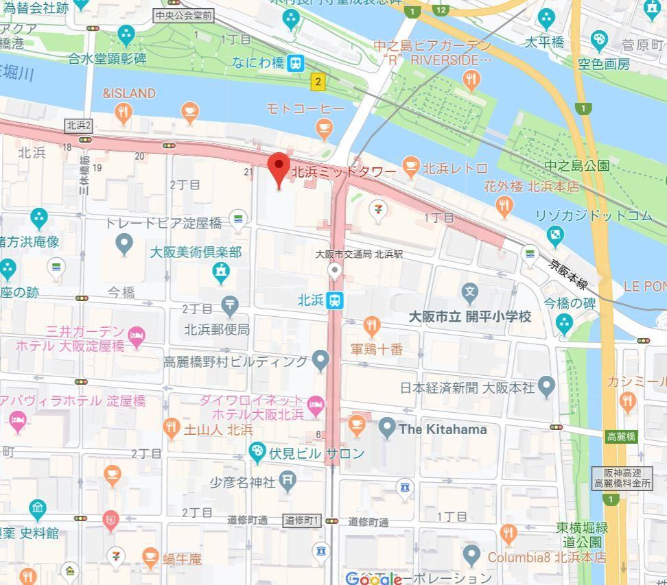 北浜ミッドタワー地図