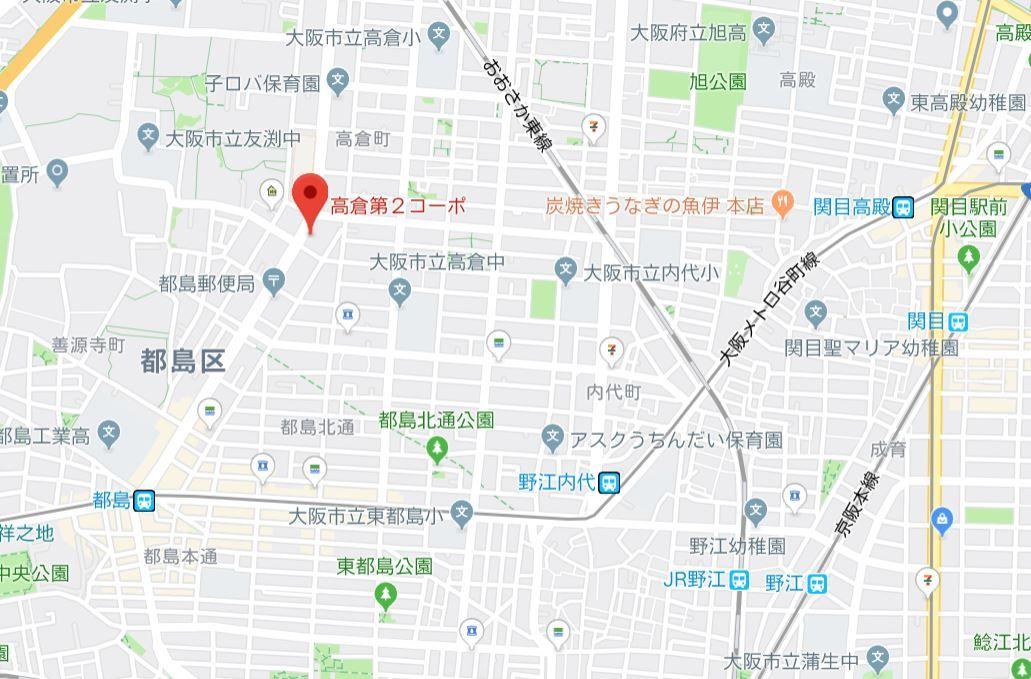 高倉第二コーポ地図