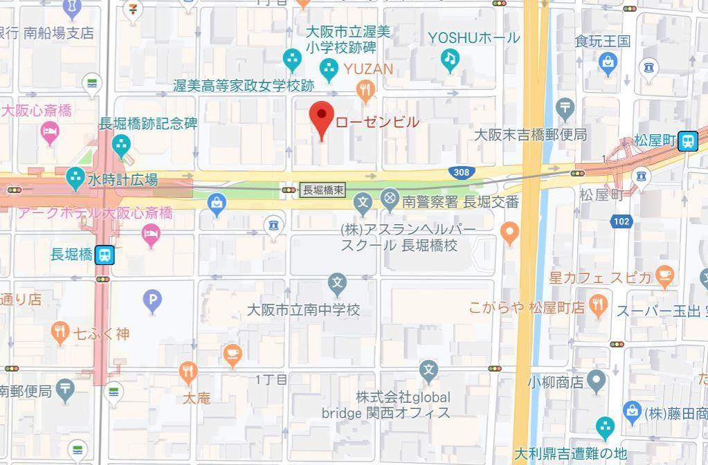TOWAローゼンビル長堀702号地図